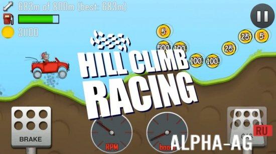 скачать игру hill climb racing мод бесконечные деньги и бесконечный бензин