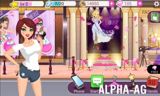 скачать игру superstar fashion girl бесконечные деньги