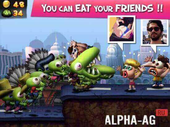 скачать игру на андроид зомби цунами бесконечные деньги