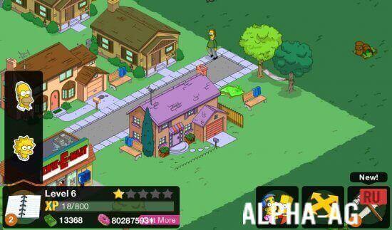 скачать игру симпсоны спрингфилд с бесконечными пончиками и деньгами