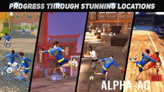 Взломанный skilltwins football game 2 Скриншот №2