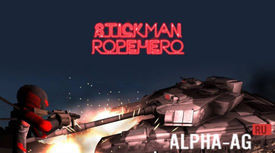 Stickman Rope Hero Скриншот №1