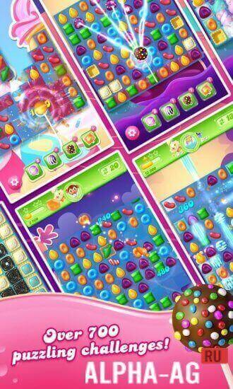 Candy Crush Jelly Saga Скриншот №2