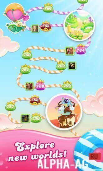 Candy Crush Jelly Saga Скриншот №4